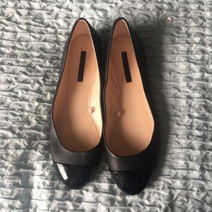 Zara black two toned flats